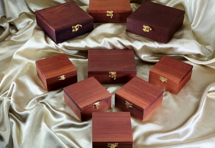 Classic Australian Jarrah Trinket Boxes - Various Sizes