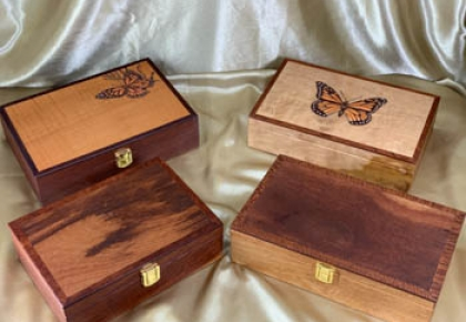 Premium Australian Wooden Keepsake Boxes - Various sizes