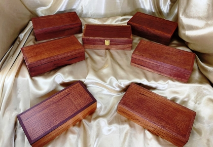 Classic Australian Wooden Treasure Boxes - Long and Deep