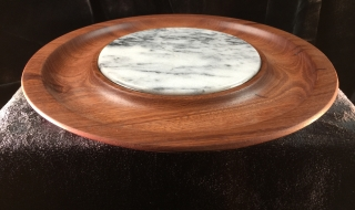 Platter - Small Jarrah with White Marble Centre