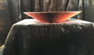 Decorator Bowl - Jarrah with small base