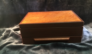 Classic Jewellery Box/Drawer (Sheoak Lid/Blue Lining) SOLD