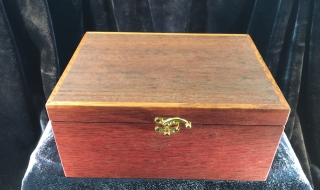 Classic Jewellery Box/Tray (Jarrah Lid/Green Lining) SOLD