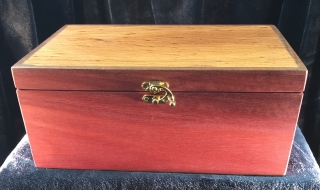 Classic Jewellery Box/Tray (Sheoak Lid/Blue Lining) SOLD