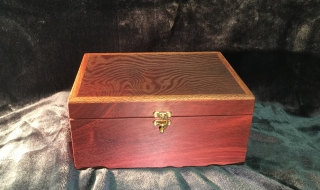Classic Jewellery Box/Tray (Woody Pear Lid/Black Lining) SOLD