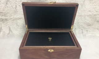 Figured Jarrah Jewellery Box with Tray