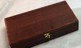 Long Jarrah Box (Leather Lined) 300x150x65 SOLD