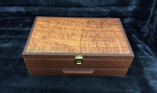 Sheoak Box with catch - (Black) 300x180x105