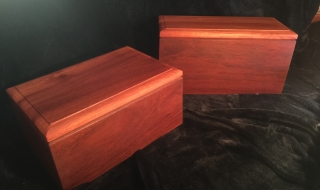 Custom Made Jarrah Human Cremation Box