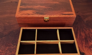 Classic Jewellery Box with Woody Pear Lid and Tray (CJBT0008) SOLD