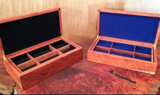 Classic Jewellery Boxes with Jarrah Burl Lid and Tray(CJBT0002 and CJBT0003) SOLD