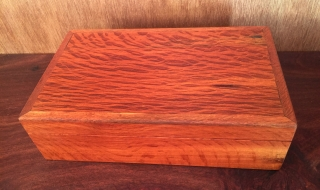 Classic Personal Box - Sheoak with Silky Oak Beading - Burgundy Lining (CPB0006 -1460)