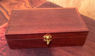 Classic Keepsake Box - Small Jarrah with Woody Pear Lid - Black Lining (CPB0012-1487) SOLD