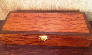 Jarrah Bracelet Box with Sheoak Lid - Brass Catch (CBB0009-1524) SOLD