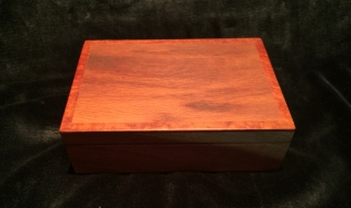 Premium Personal Box - Woody Pear and Lace Sheoak - Black Lining (PPB-1943)