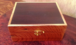 30 Essential Oil Box - Silky Oak box with Woody Pear Lid (EOB-1561) SOLD
