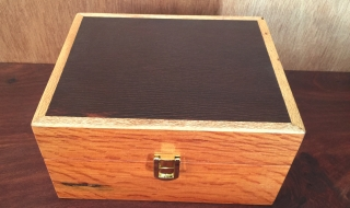 20 Essential Oil Box - Silky Oak box with Woody Pear Lid (EOB-1579)