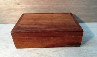 Premium Personal Box - Woody Pear and Lace Sheoak - Black Lining (PPB-1945)