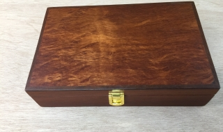 Classic Gentleman's box with Lace Sheoak Lid, Leather lining (CGBS2-1923)