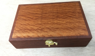 Classic Gentleman's Box with Lace Sheoak Lid, Leather lining (CGBS3-1933)