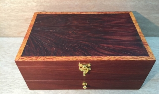 Classic Jewellery Box with Jarrah Burl Lid and Drawer (PJBD0001-2599)