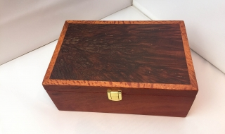 Sheoak Jewellery Box  with Jarrah Burl Lid, Top Tray  (PJBT19005-2450) SOLD