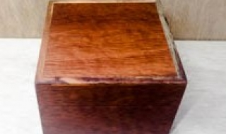 Square Jarrah Jewellery/Trinket Box - Sheoak lid and Tray (CJBT19002-L5229) SOLD