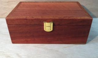 Small Jarrah Jewellery box with Removable Tray and Brass Catch (CJB19003-L2580) SOLD