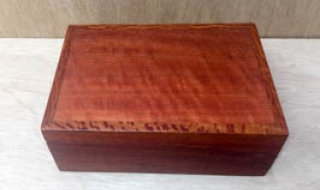 Small Pink Jarrah Jewellery Box with Removable Tray (CJBT19004-L5224) SOLD