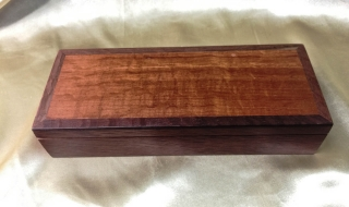 Jarrah Bracelet Box with Sheoak Lid - Black Lining (CBB0008-1514) SOLD