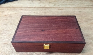 Premium Gentleman's Box - Jarrah with Leather Lining and Brass Catch (PKBG19003-L5555)