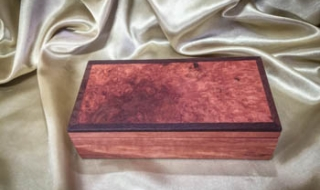 Jarrah Burl / Woody Pear Treasure Box (Small) (PTBS19004-L5870) SOLD
