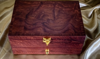 Jarrah Jewellery Box with Burl Lid and Drawer PJBD20009-L6954 SOLD