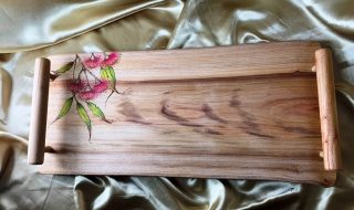 Camphor Laurel Wooden Tapas/Grazing Board with Eucalypt image - TB20003-L7029