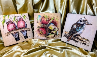 Examples of Flora and Fauna Pyrography