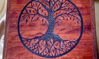 Example of Tree of Life Pyrography Customisation