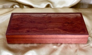 Jarrah and Woody Pear Bracelet/Cufflink Box - PBCBS20004-L8103 SOLD